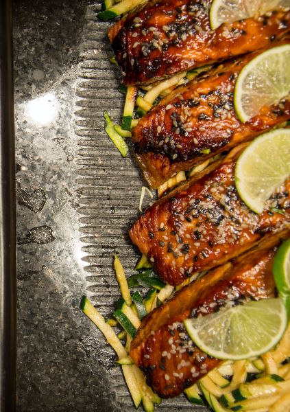 Grilled Salmon with Maple, Cumin & Lime Marinade